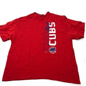 Men's Size XXL Chicago Cubs Baseball Red Tee Shirt